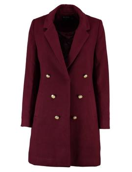 Petite Double Breasted Military Duster Coat by Boohoo
