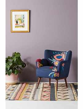 Felted Floral Accent Chair by Anthropologie