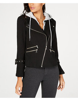I.N.C. Hooded Moto Jacket, Created For Macy's by Inc International Concepts