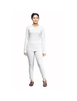 Ladies Winter Long Johns 2 Piece Thermal Underwear Set by Maks