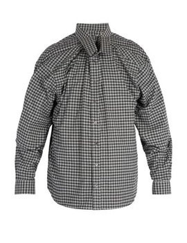 Double Layered Gingham Cotton Shirt by Y/Project