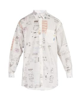 Receipt Print Cotton Shirt by Vetements