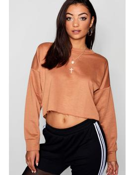 Tall Raw Hem Oversized Box Sweat by Boohoo