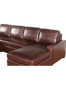 Liberty 100 Percents Full Grain Leather 3pc Sectional Set Brown   Abbyson Living by Abbyson Living