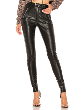 Belted Leather Pants by Danielle Guizio