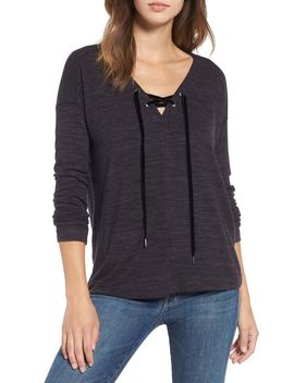 Leigh Lace Up Top by Rails