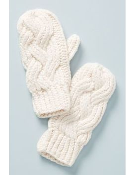 Cable Knit Mittens by Lemon