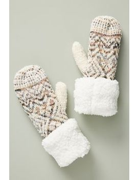 Sherpa Fair Isle Mittens by Anthropologie