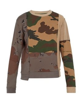 Reconstructed Camouflage Cotton Sweatshirt by Off White