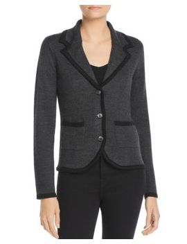 Two Tone Knit Blazer by Avec
