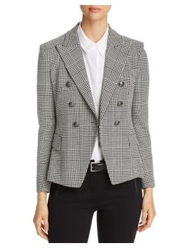 Jezebel Houndstooth Plaid Fitted Blazer   100 Percents Exclusive by Elie Tahari