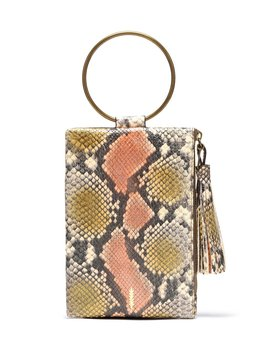 Nolita Ring Handle Snake Print Clutch by Thacker