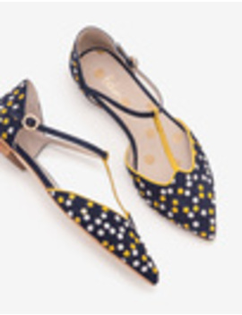 Layla T Bar Flats by Boden