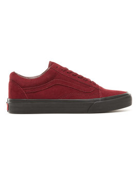Suede Black Outsole Old Skool Shoes by Vans