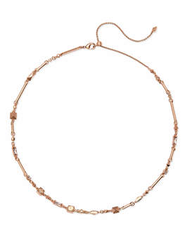 Rhett Rose Gold Necklace In Blush Mix by Kendra Scott