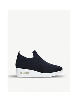 Angie Wedge Heel Sock Trainers by Dkny