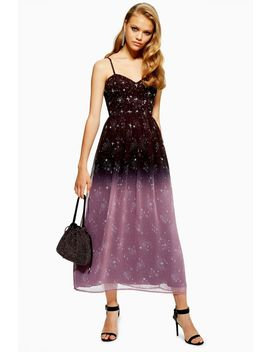 Ombre Corset Midi Dress by Topshop