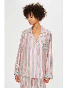 Key To Freedom Stripe Pyjama Shirt by Topshop