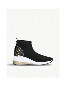 Skyler Studded Woven Knit Trainers by Michael Michael Kors