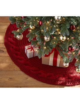 Chunky Knit Tree Skirts by Pottery Barn