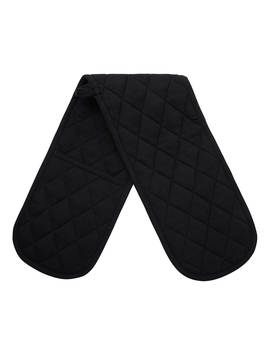 John Lewis & Partners The Basics Double Oven Glove, Black by John Lewis & Partners