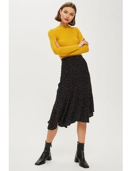 **Ria Dot Frill Hem Skirt By Nobody's Child by Topshop