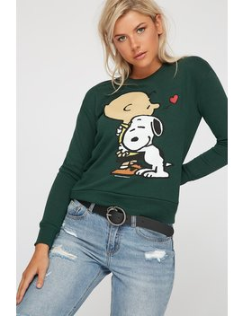 Charlie Brown Graphic Crewneck Sweater by Urban Planet