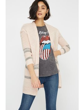 Jacquard Knit Open Front Oversized Cardigan by Urban Planet