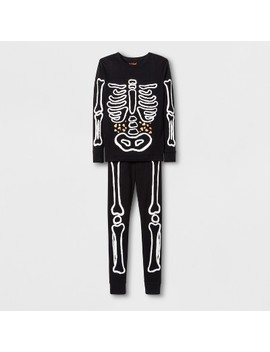 Boys' Skeleton Graphic Tight Fit Pajama Set   Cat & Jack™ Black by Cat & Jack™