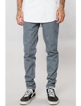 Indigo Pinstripe Denim Slim Pant by Elwood Clothing