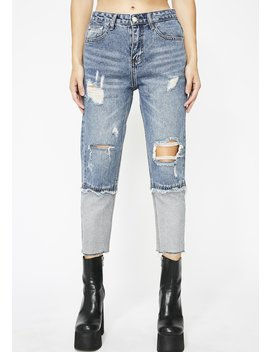Extreme Caution Crop Jeans by Love Harmony