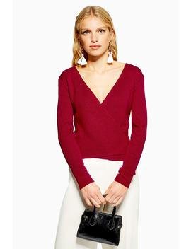 Ballet Wrap Jumper With Cashmere by Topshop