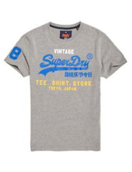 New Mens Superdry Shirt Shop Tri Tee Montana Grey by Ebay Seller