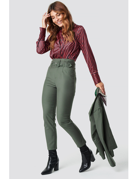 High Waist Belted Pants by Na Kd Classic