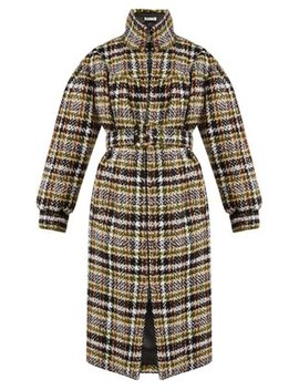 Oversized Wool Blend Tweed Coat by Miu Miu