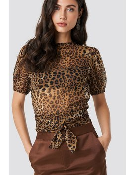 Balloon Sleeve Cropped Top by Na Kd