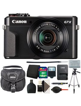 Canon G7 X Mark Ii Power Shot 20.1 Mp Digital Camera Black With 8 Gb Accessory Kit by Canon International