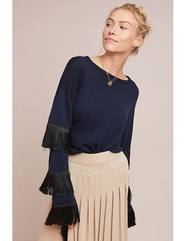 Tiered Fringe Sweater by Tabula Rasa