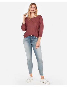 Off The Shoulder Dolman Pullover Sweatshirt by Express
