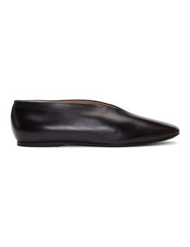 Black Leather Slippers by Lemaire