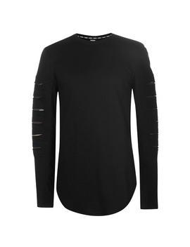 Split Long Sleeve T Shirt Mens by Fabric