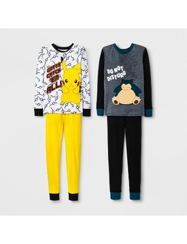 Boys' Pokemon 4pc Pajama Set by Pokemon