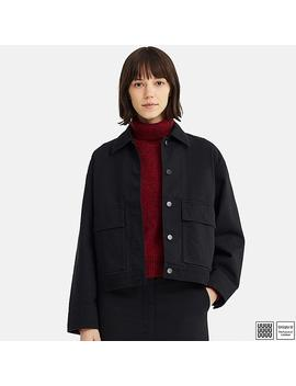 Women Uniqlo U Work Denim Jacket by Uniqlo
