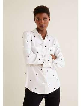 Wzorzysta Koszula Z Kieszeniami by Mango