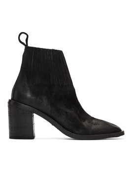 Black Tapiro Sock Detail Ankle Boots by MarsÈll