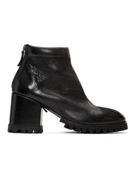 Black Dente Lug Sole Boots by MarsÈll