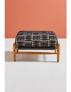 Onyx Rhys Ottoman by Anthropologie
