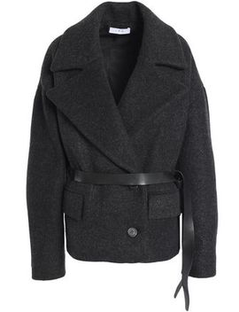 Double Breasted Brushed Wool Blend Coat by Iro