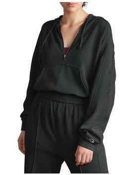 Vintage Dyed Fleece Half Zip Hoodie by Champion Reverse Weave