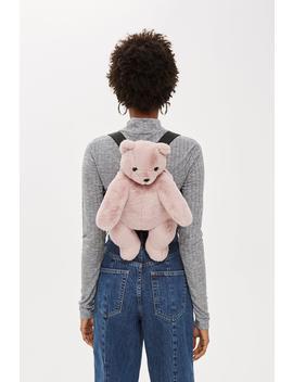 Faux Fur Teddy Bear Backpack by Topshop